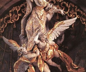 angel, gold, and architecture image
