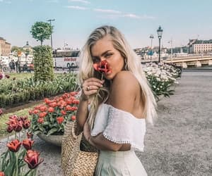 blonde, angelica blick, and flowers image