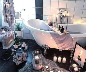 bathroom and candles image