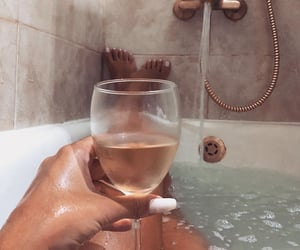 relax, bath, and wine image