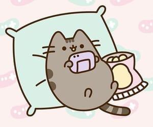 pusheen, wallpaper, and pusheen cat image