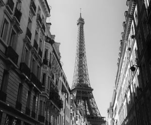 b&w, black and white, and buildings image