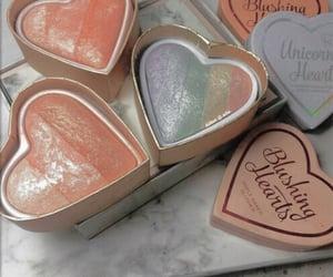 makeup, rainbow, and blush image