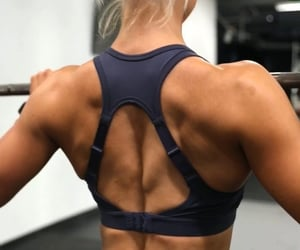 fitness, gym, and shoulders image
