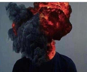 angry, black, and explosion image