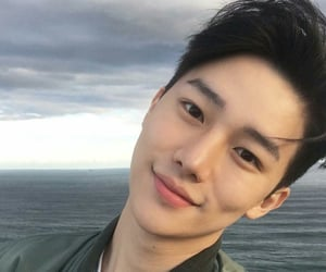 asian boy, handsome, and sea image