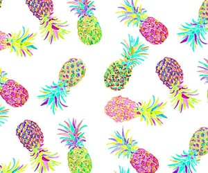 background, pattern, and pineapple image