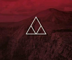 background, mountain, and red image