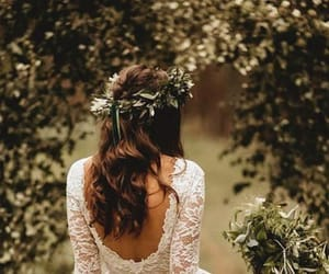 dress, flowers, and pure love image