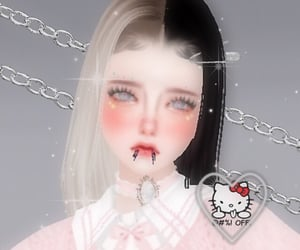 girl, icon, and 3d image