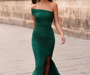 prom dresses, sexy prom dresses, and green prom dresses image