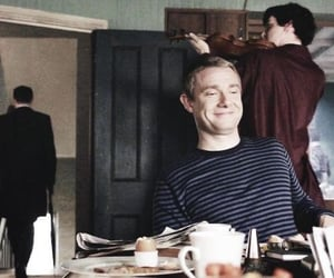 sherlock, Martin Freeman, and benedict cumberbatch image
