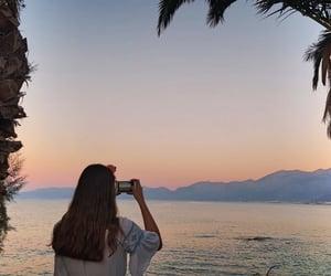 beach, Greece, and myself image