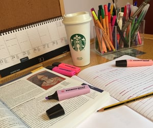 coffee, notes, and study image