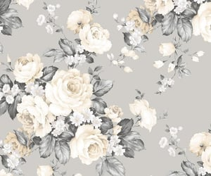 background, beige, and floral image