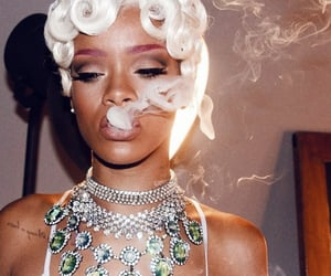 rihanna, riri, and smoke image