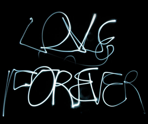 black, light writing, and forever image