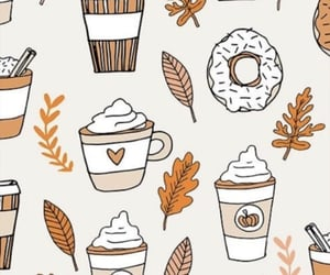 autumn, chocolate, and doodle image