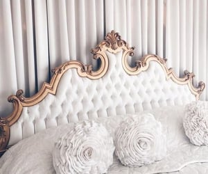 bedroom, gold, and home image