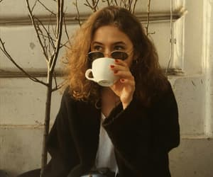 autumn, brunette, and coffee image