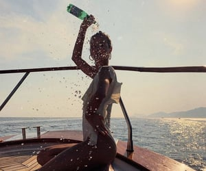 boat, drink, and champagne image