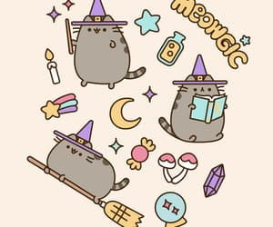 art, magic, and cat image