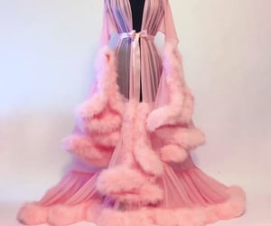 pink, robe, and luxury image