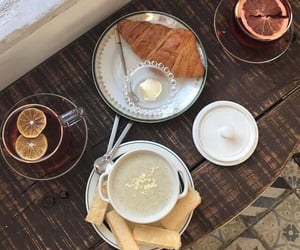 aesthetic, breakfast, and croissants image