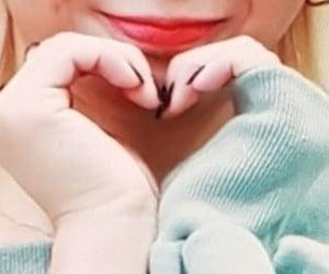black nail polish, hands heart, and heart image