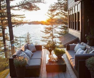 chilling, lake, and outdoors image