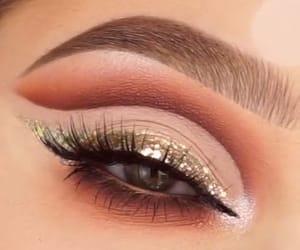 eye, make-up, and glitter image