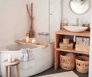 bathroom, house, and cosy image