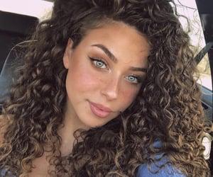 beautiful, brunette, and eyeliner image