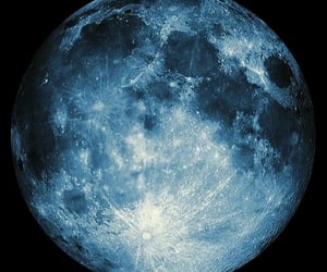 moon, overlay, and blue image