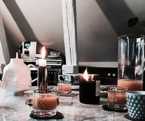 article, candle, and fall image