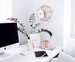interior designs, mac book, and office image