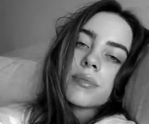 billie eilish, aesthetic, and b&w image