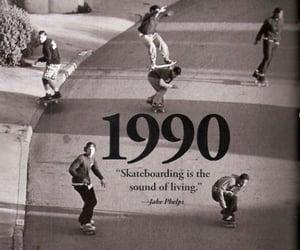 1990, skateboarding, and skate image