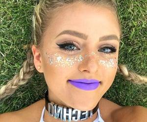 festival, glitter, and lips image