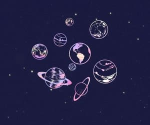 wallpaper, planets, and stars image