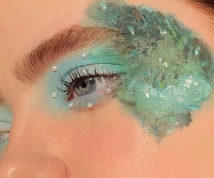 art, blue, and green image