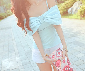 fashion, girl, and bow image