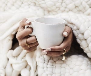 autumn, nails, and coffee image
