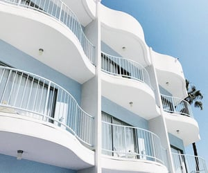 architecture, balconies, and blue image