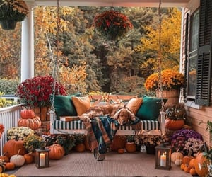 autumn, candles, and colorful image