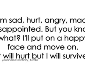 sad, hurt, and survive image
