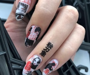 nails, anime, and grunge image
