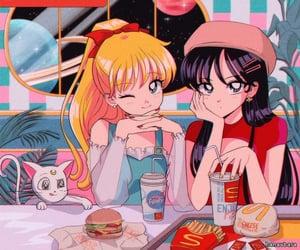 anime, art, and cheeseburgers image