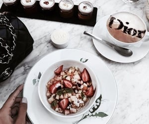 food, coffee, and dior image
