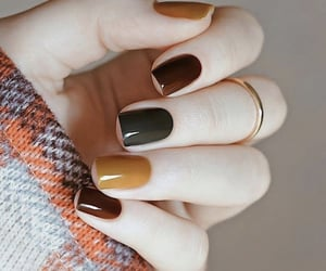 nails, autumn, and fall image